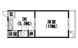 原荘苑[2階11号室号室]の間取り