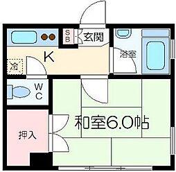 東京都江東区永代1の賃貸マンションの間取り