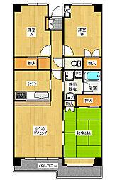 カーサ・フィヨーレ3[2階]の間取り