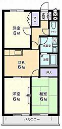 神奈川県川崎市麻生区東百合丘4丁目の賃貸マンションの間取り