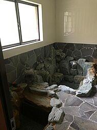 岩風呂の浴室です