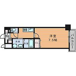 URBAN PARK 梅田WEST (アーバンパークウメダウ 14階1Kの間取り