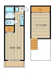 ハートインアスカ[2階]の間取り