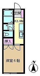 コトブキハイムA[101号室]の間取り