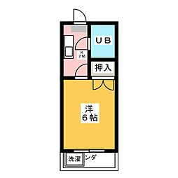 コーポ道印[2階]の間取り