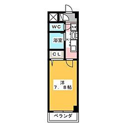 愛知県名古屋市港区小賀須1の賃貸マンションの間取り