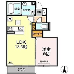 D−room南吉田(仮)[B102 号室号室]の間取り