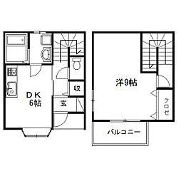 [テラスハウス] 静岡県浜松市中区野口町 の賃貸【/】の間取り
