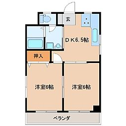 菅原橋スカイマンション[303号室]の間取り