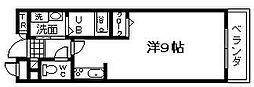 大阪府岸和田市下池田町1丁目の賃貸マンションの間取り