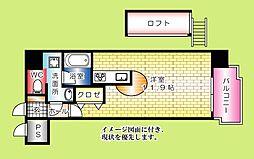 グランドポレストーネ大手町弐番館--[204号室]の間取り