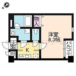 クオリカ西京極[402号室]の間取り