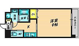 Forest Grace 高井田I 12階1Kの間取り