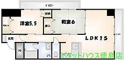 第3コーポHAMADA[2A号室]の間取り