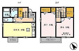 愛知県名古屋市千種区城山新町2丁目の賃貸アパートの間取り
