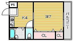 アンフィニ松ヶ丘[504号室]の間取り
