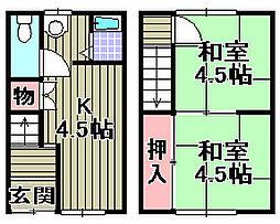 [一戸建] 大阪府和泉市伯太町6丁目 の賃貸【/】の間取り
