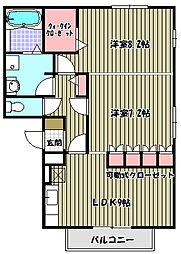 ベァーフルート[2階]の間取り