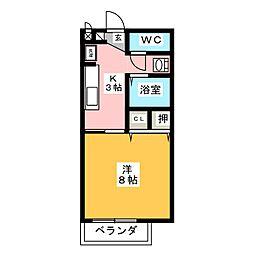 サープラスワン吉田[1階]の間取り