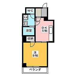 第17オーシャンビル[4階]の間取り