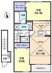 メゾンフォリアA[2階]の間取り