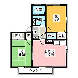 エクセル兵庫 A[2階]の間取り
