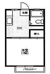 コーポ楓[2階]の間取り