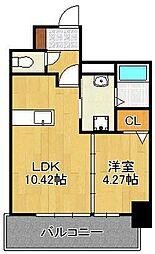 大八ビル(住居) 6階1LDKの間取り