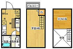 福岡県福岡市東区松島1丁目の賃貸アパートの間取り