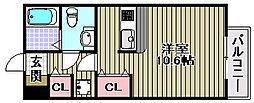 エスタシオン高石[303号室]の間取り