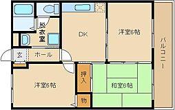 長井マンション[202号室]の間取り