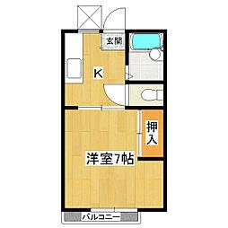 サンライフ西B棟[2階]の間取り