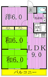 笠井ハイツ[306号室]の間取り