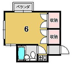 ボックス七条[407号室]の間取り