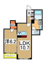 仮)柏の葉ホテルライクシャーメゾン 3階1LDKの間取り