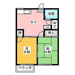 オータム福岡[2階]の間取り
