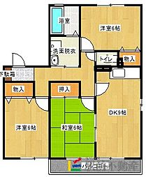 エスポワール木原[1階]の間取り