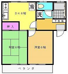 オークハイムII[1階]の間取り