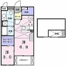 エクセルディアコートSKP.A[2階]の間取り