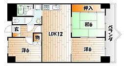 フォーラム岡田[4階]の間取り