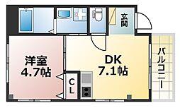 ERCity's nishinada[4階]の間取り