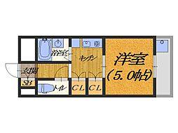 大阪府松原市天美北7丁目の賃貸アパートの間取り