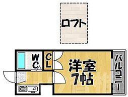 福岡県福岡市東区唐原2丁目の賃貸アパートの間取り