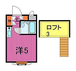 ベルシティ川口I号棟[1階]の間取り