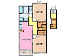 シュープリーム A棟[1階]の間取り
