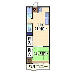 山菱マンション[4階]の間取り