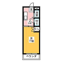 ホワイトハイム弥富[3階]の間取り