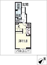 ピアット 鳥居松[1階]の間取り
