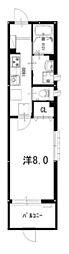京福電気鉄道嵐山本線 山ノ内駅 徒歩3分の賃貸マンション 1階1Kの間取り
