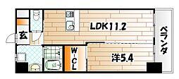 福岡県北九州市戸畑区中原東2丁目の賃貸マンションの間取り